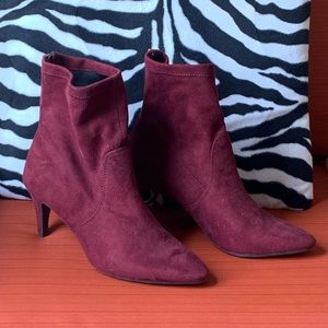 Aerosoles Heel Rest Wine Excess Boots faux suede